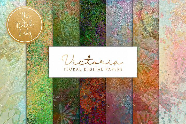 Floral Backgrounds & Paper Designs - Victoria