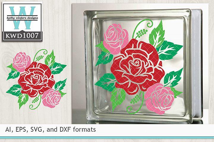 Valentine SVG - Rose Cluster