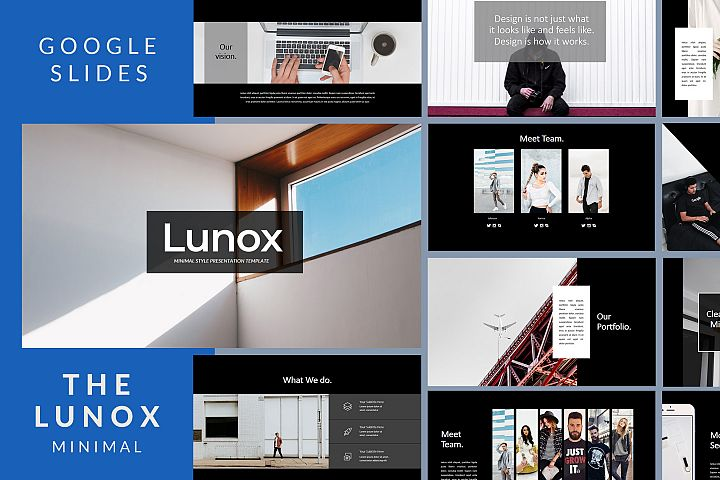 Lunox Dark - Google Slides Presentation