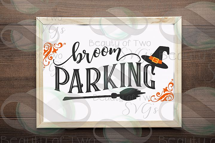 Halloween svg sign design, Broom Parking svg, witch svg