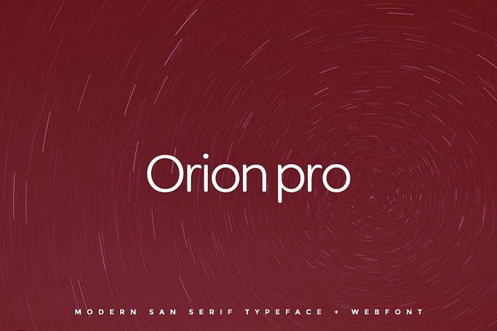 Orion pro - Typeface Web Fonts