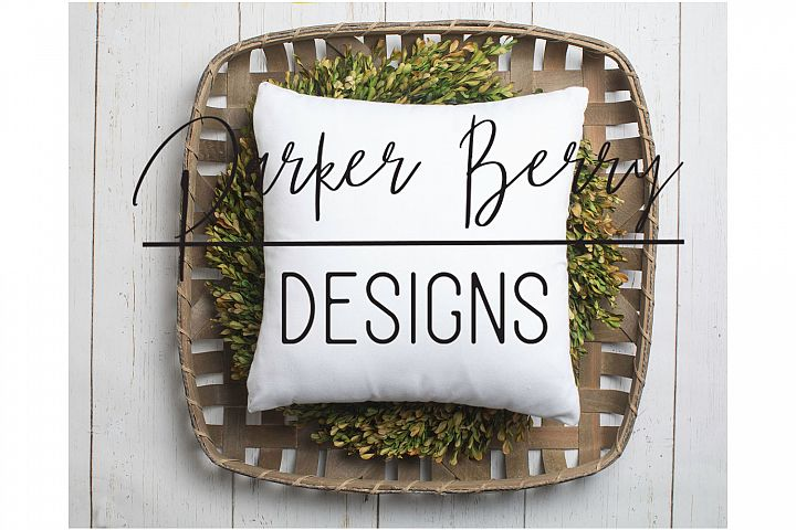Farmhouse style pillow mockup