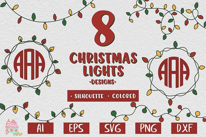 Christmas Lights Bundle SVG - Christmas Lights Monogram