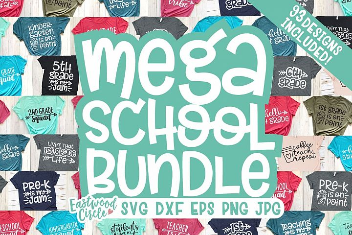 MEGA School SVG Bundle - Back to School Cut Files