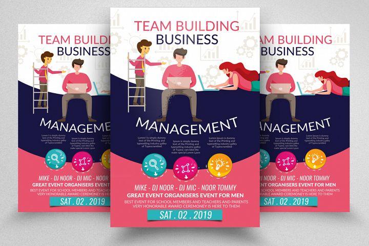 Business Team & Management Flyer
