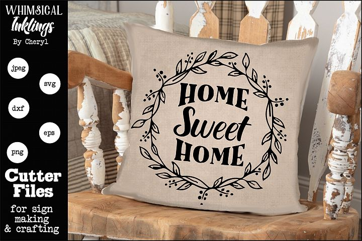 Home Sweet Home- Round SVG