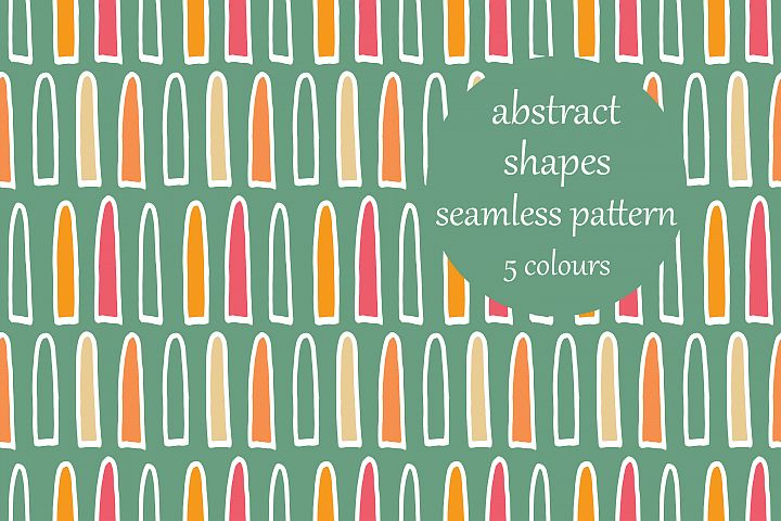 Abstract Loop Shapes Pattern