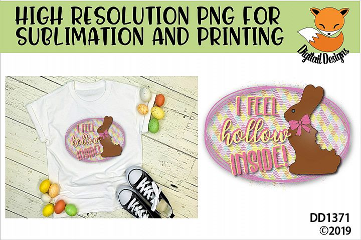 Funny Chocolate Easter Bunny Sublimation Printable