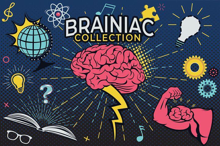 Brainiac Cartoon Graphics Set