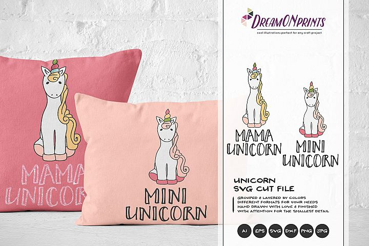 Unicorn SVG - Mama Unicorn SVG Mini Unicorn