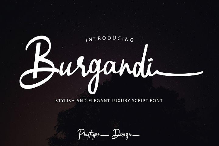 Burgandi Font