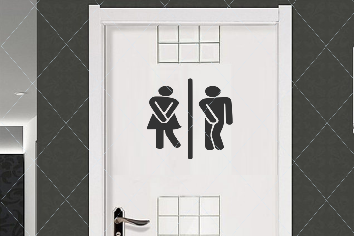 Restroom door sign, funny restroom sign, door sign svg