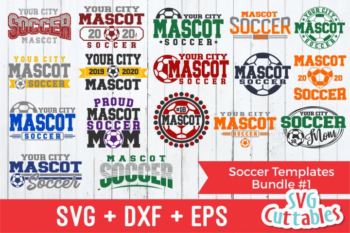 Soccer Template Bundle 1 | SVG Cut File