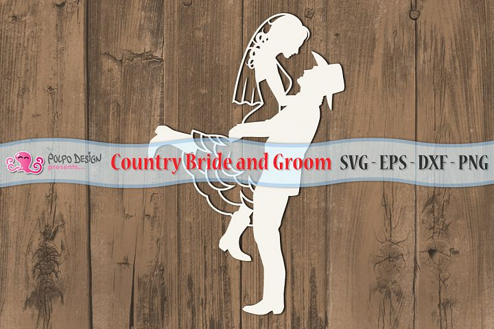 Country Bride and Groom in SVG, EPS, DXF and PNG file format