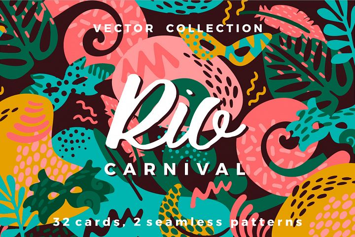 Brazil carnival. Vector collection.