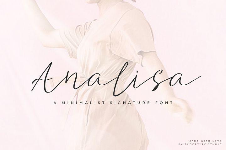 Analisa - Minimalist Font