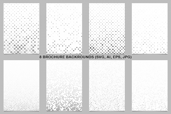 8 Grey Brochure Backrounds