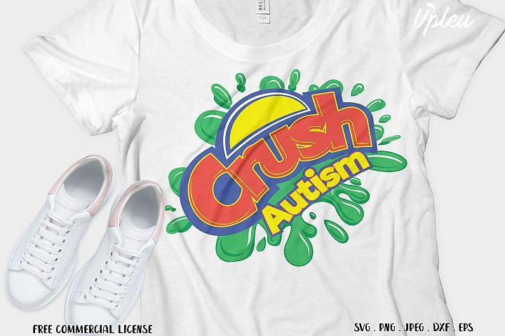 Crush Autism SVG