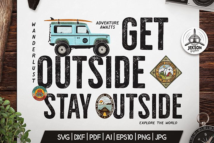 Adventure Awaits SVG Cut File, Travel svg, Wanderlust Badge