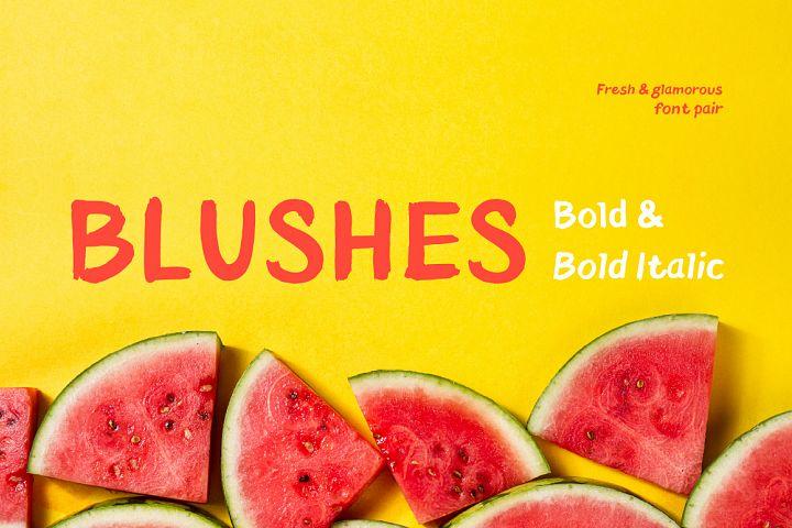 Blushes — Bold & Bold Italic