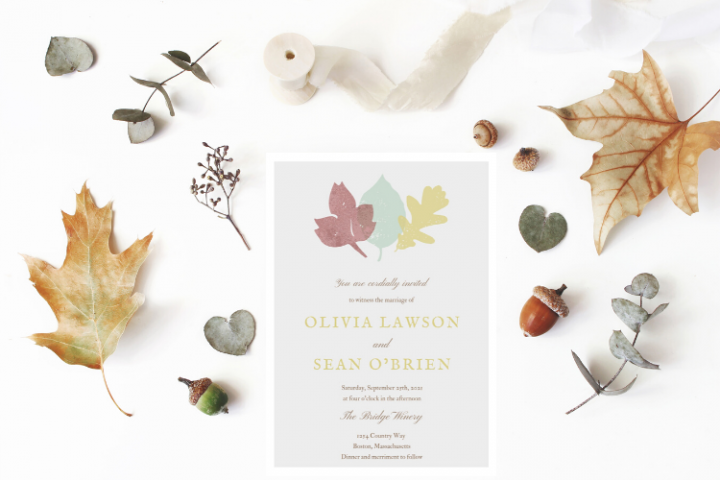 Autumn Leaves Wedding Invitation