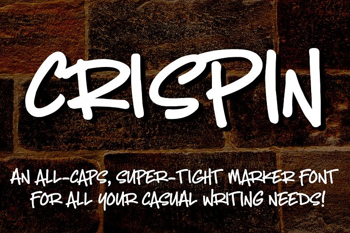 Crispin - handwritten marker font - Free Font of The Week