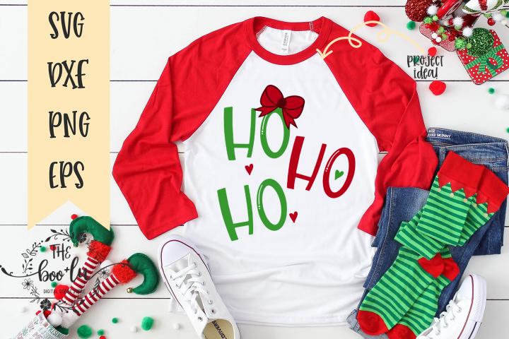 Ho Ho Ho SVG Christmas Cut File EPS DXF PNG