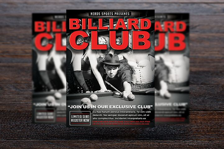 Billiards Club Sports Flyer
