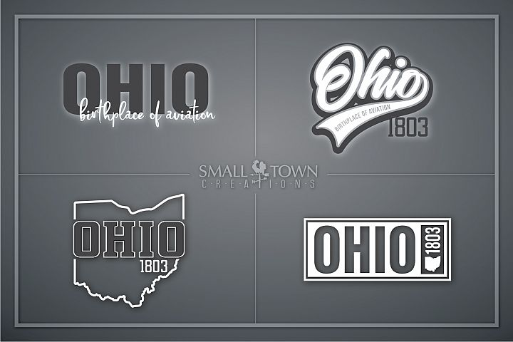 Ohio, Birthplace of Aviation - slogan, PRINT, CUT & DESIGN