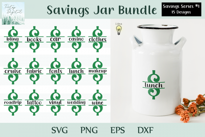 Saving Bank Design Bundle, $ Savings Series #1