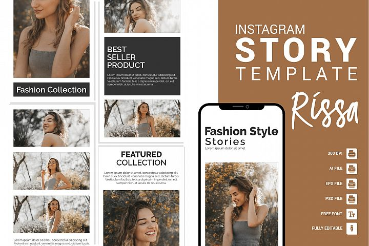 Rissa - Fashion Instagram Story Template