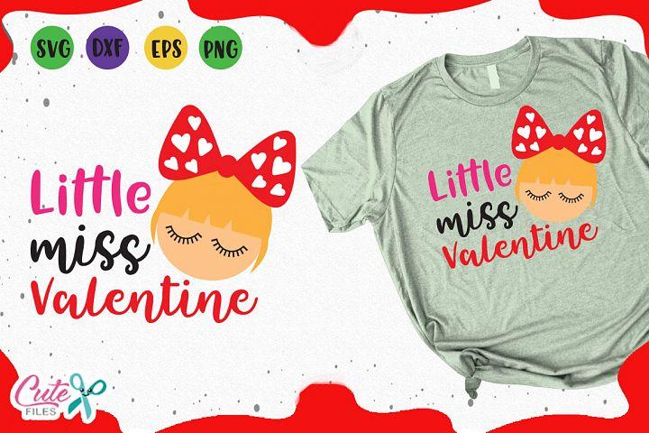 Little miss valentine, svg valentines day cut files