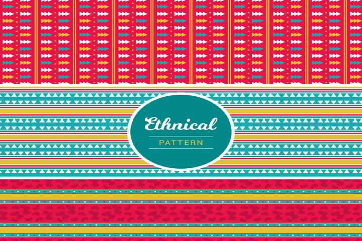 Colorful tribal pattern seamless background vector