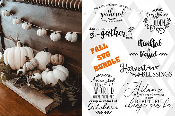 Fall Designs, SVG BUNDLE