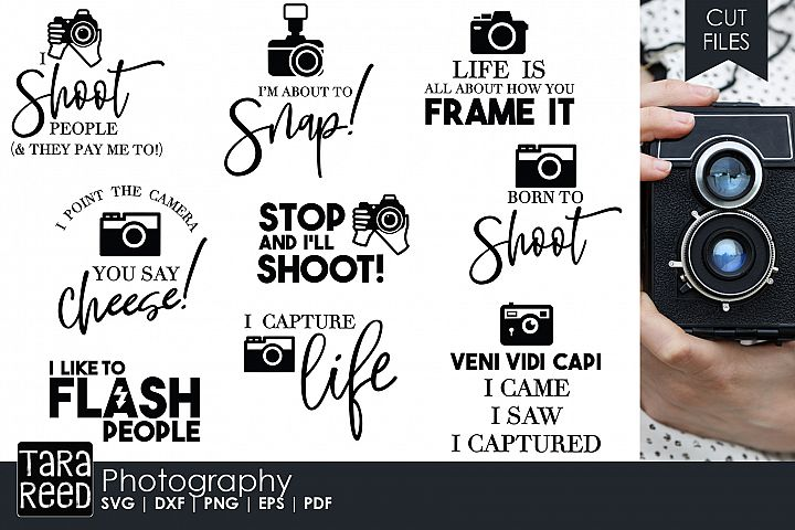 Photography - Photographer SVG and Cut Files for Crafters