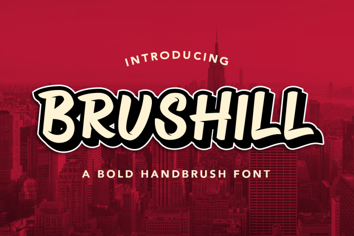 BRUSHILL - Handbrush Font