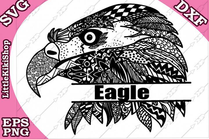 Monogram Eagle Svg,Mandala Eagle Svg,Cricut Svg,Zentagle Svg