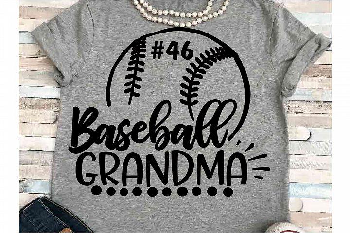 Baseball SVG DXF JPEG Silhouette Cameo Cricut Grandma svg