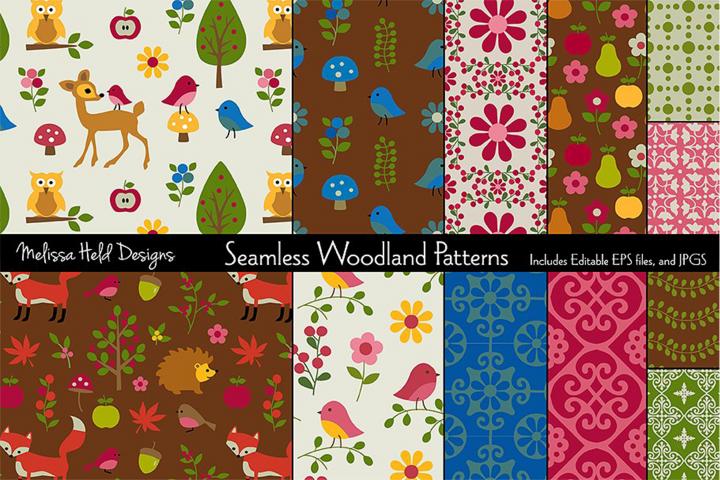Seamless Woodland Patterns
