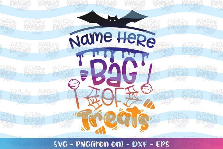Halloween svg Bag of Treats svg