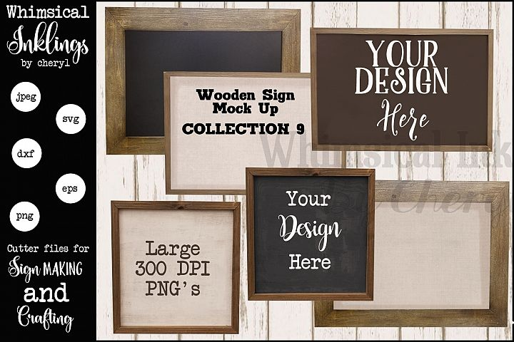 Wooden Frame Mock Up Collection NINE