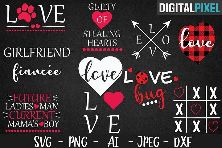 Valentines Day Bundle SVG PNG DXF Valentines Bundle Crafters