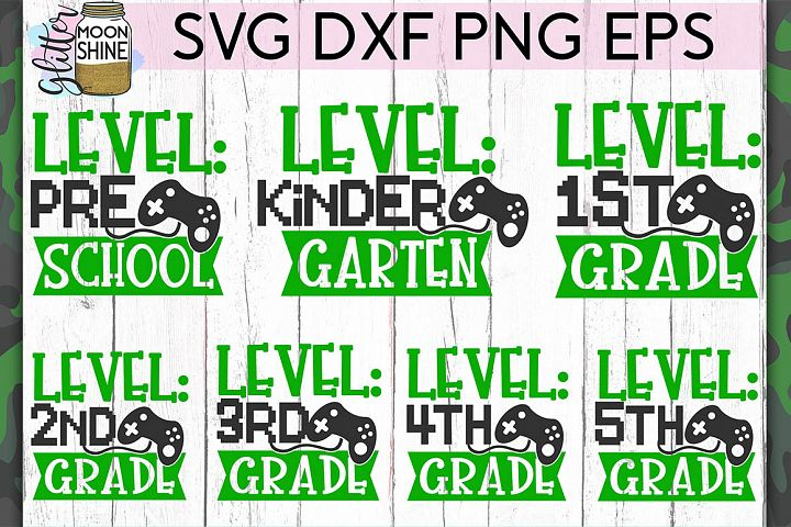 Level Grade Bundle of 7 SVG DXF PNG EPS Cut Files
