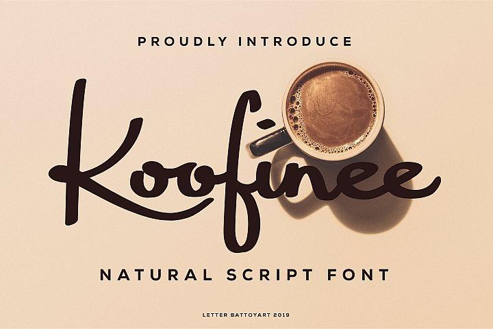 Koofinee Natural Script Font