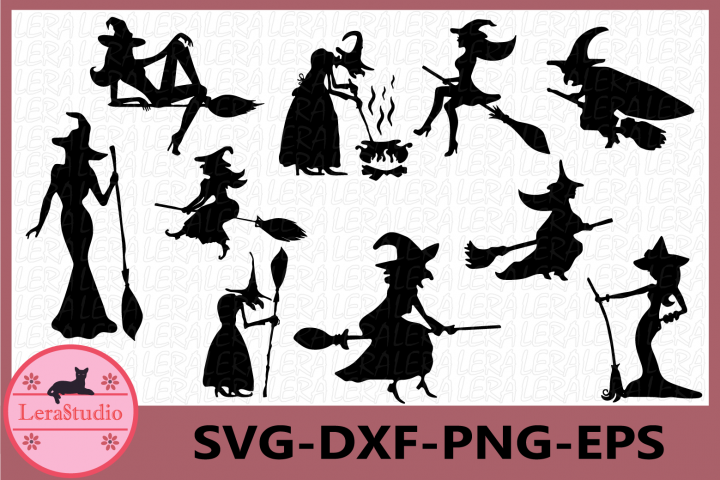 Halloween Svg, Witch Svg, Witch Clipart, Halloween Witch