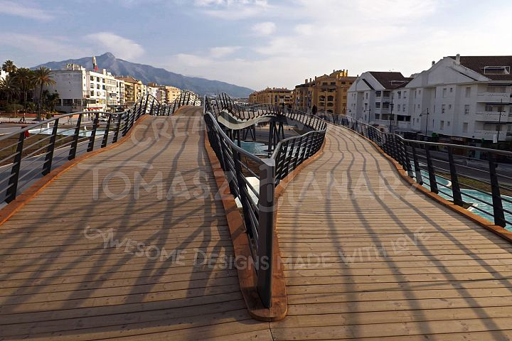 Wooden Promenade In The City