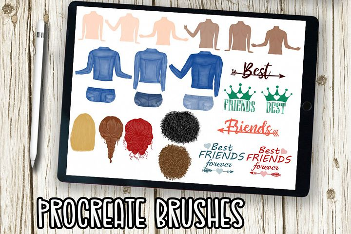 Procreate Brushes, Stamp Brush, Portret creator brush,iPad