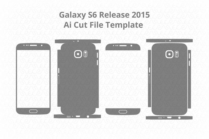Samsung Galaxy S6 Vinyl Skin Vector Cut File Template 2015