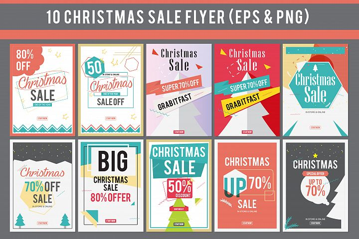 10 Christmas Sale Flyer