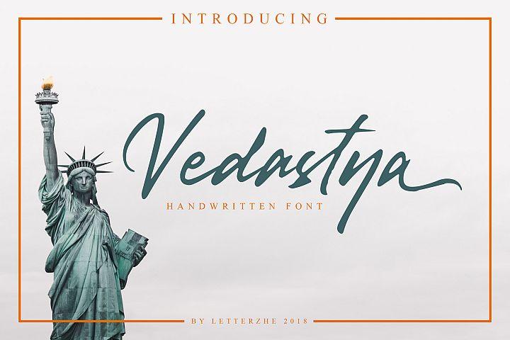 Vedastya Script Font